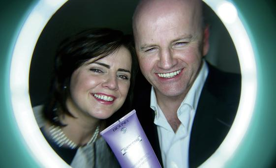 Through the looking glass: Sean Gallagher and Anna Costello of Newgenskin. Photo: Gerry Mooney