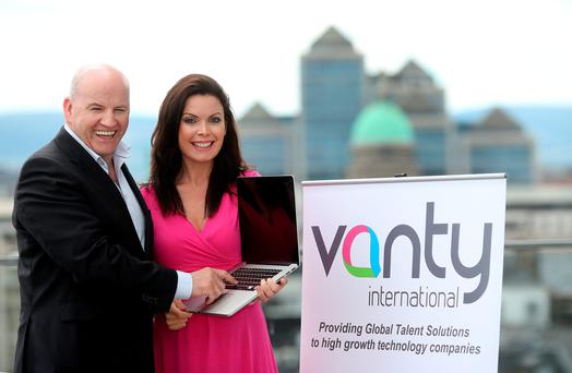 HARNESSING POTENTIAL: Vanessa Tierney, above with Sean Gallagher, is a born entrepreneur. Photo: Gerry Mooney