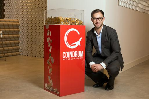 'I have a set of one cent coins, the first ever put into a Coindrum machine, which I had turned into cufflinks,' says Lukas Decker. Photo: Tony Gavinrealise