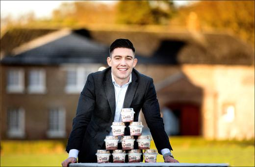 ON THE GO: Seamus Tighe, founder of Everest Granola, whose busy work day and active lifestyle left him with little time to prepare meals, so he adapted his favourite post-workout food – yoghurt and nuts – and made it into a ready-made, nutritious meal to launch on the market. Photo: David Conachy