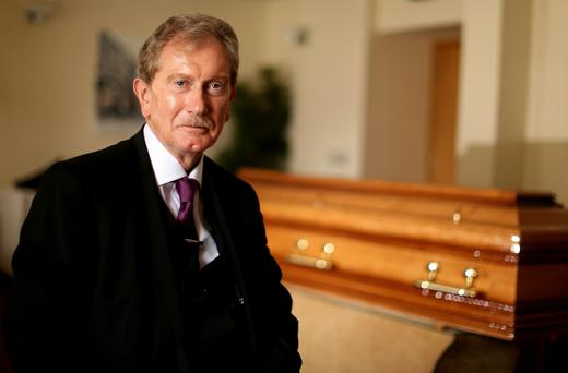 Freddie Maguire in the new Massey's funeral home in Blackrock, Co Dublin. Photo: Gerry Mooney