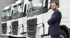 Dad Niall Thompson, the chief executive of Interflow Logistics