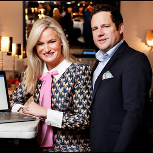 'We searched for a software platform that would manage the business of events and couldn't find one so we built it ourselves,' says Emma Killian, with husband Eamon Crosby. Photo: Steve Humphreys