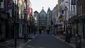 Lockdowns have closed businesses like those on South Anne Street in Dublin. Photo: Gareth Chaney/Collins