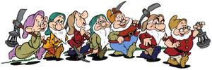 Snow White would have been lost without Sneezy, Sleepy, Dopey, Doc, Happy, Bashful and Grumpy