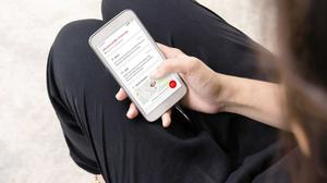 Keeping tabs: The Vodafone V-SOS allows you to track the wearer on your phone