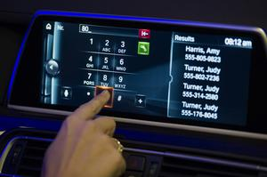 A BMW touchscreen.