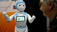 The Avatar iPal robot for childen, carers for the elderly and retail  applications at CES in Las Vegas