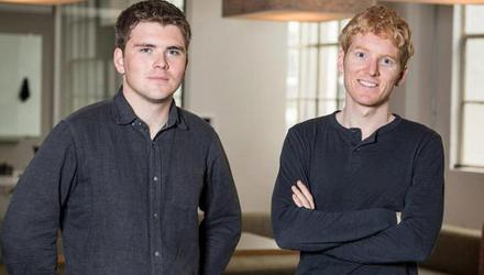 Brothers John and Patrick Collison, cofounders of Stripe
