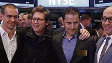 The Twitterati: Jack Dorsey, Biz Stone, Evan Williams and Dick Costolo on the floor of the NYSE last week