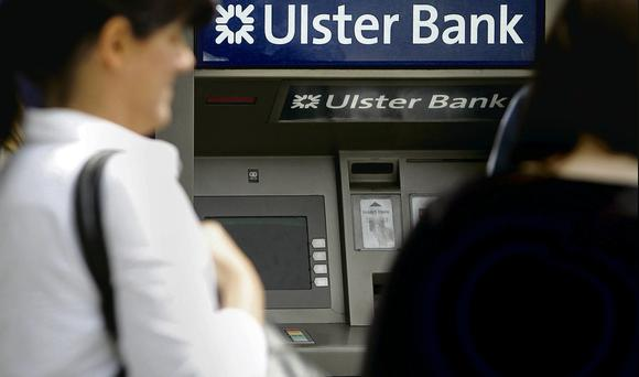 Out of order: Ulster Bank suffered not one, but two IT glitches in 18 months that resulted in customers being unable to access their money via ATMs or online. Photo: Gerry Mooney