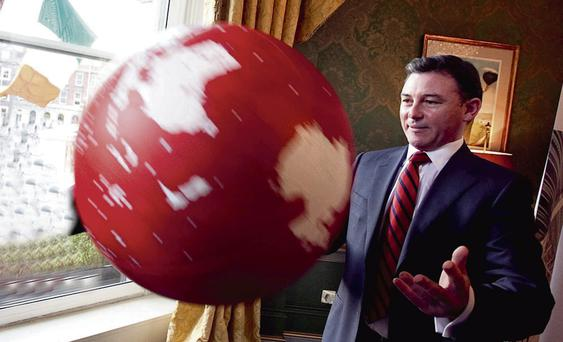 He's got the whole world in his hands: Maurice Mortell of TelecityGroup feels our opportunities are immense. Photo: Shane O'Neill/Fennells