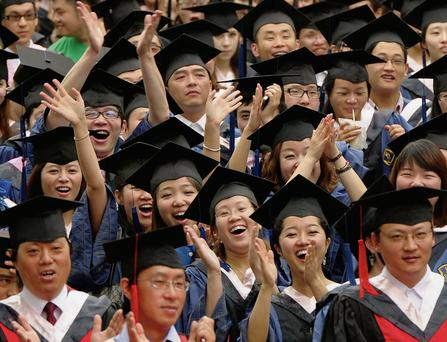 China sends roughly 200,000 university students to the US each year, 10 times the number of Americans who study in China