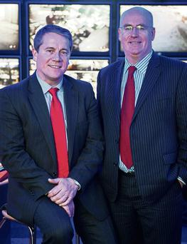 LOOKING OUT FOR YOU: Netwatch CEO David Walsh and director of technology Niall Kelly