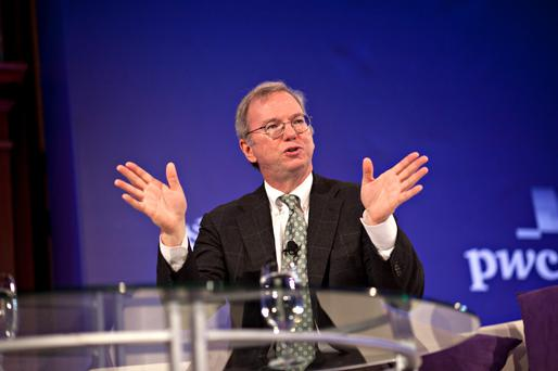 Eric Schmidt, executive chairman at Google Inc