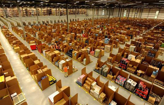 The Amazon warehouse in Dunfermline, Scotland