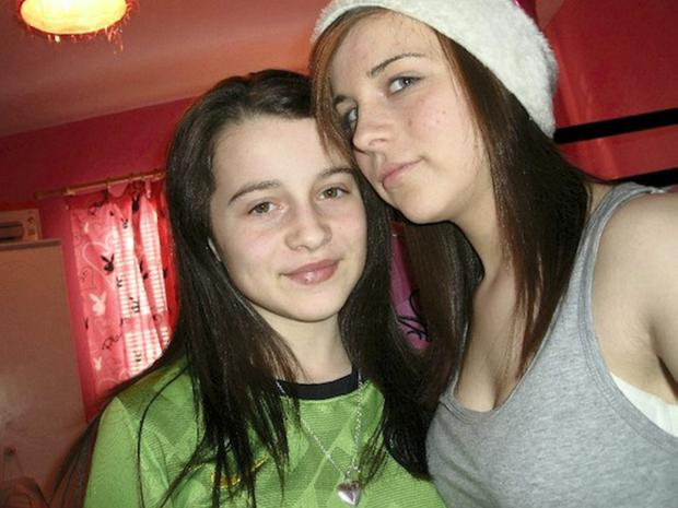 Donegal schoolgirl Erin Gallagher (left) took her own life in October after she received a string of abusive messages on controversial site ask.fm. Her older sister Shannon (right) took her own life weeks later.