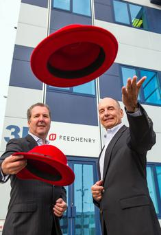 FeedHenry CEO, Cathal McGloin and Red Hat vice president, Craig Muzilla pictured after last year's buyout