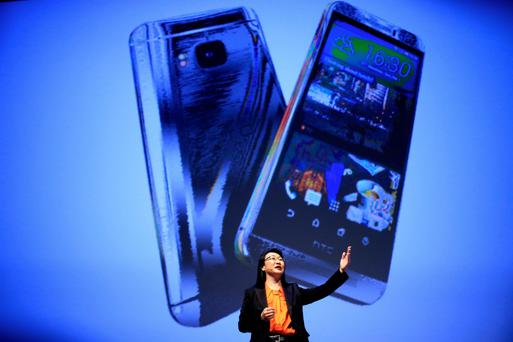 Cher Wang, co-founder and chairperson of HTC, at this year's Mobile World Congress in Barcelona