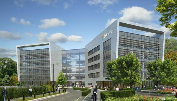 An artist's impression of the Microsoft campus in Dublin, costing an estimated €134m