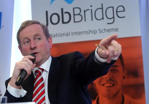 1/5/2013; Taoiseach Enda Kenny, T.D., at the launch of an independent evaluation of the JobBridge Scheme which demonstrates the internship scheme is amongest the most successful in Europe. Picture credit; Damien Eagers