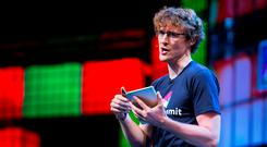 Paddy Cosgrave speaking at the Web Summit in The RDS