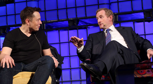 Elon Musk of SpaceX and Tesla with Taoiseach Enda Kenny