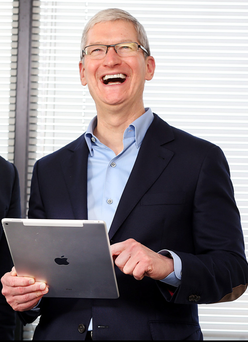 Apple chief executive Tim Cook at Independent House last week