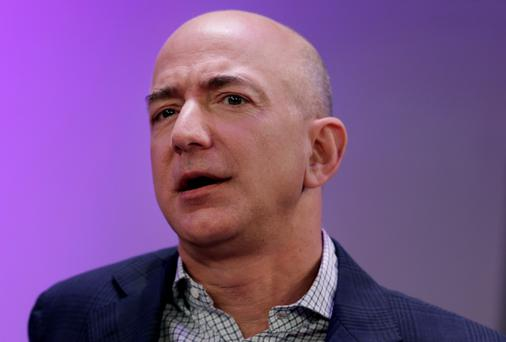Jeff Bezos, chief executive officer of Amazon. Photographer: Peter Foley/Bloomberg