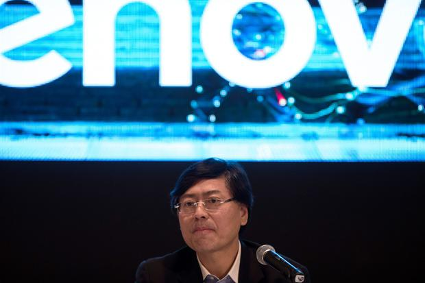 Yang Yuanqing, chairman and chief executive officer of Lenovo Group Ltd. Photo: Justin Chin/Bloomberg