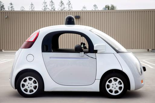Google's two-seater prototype of a driverless car.