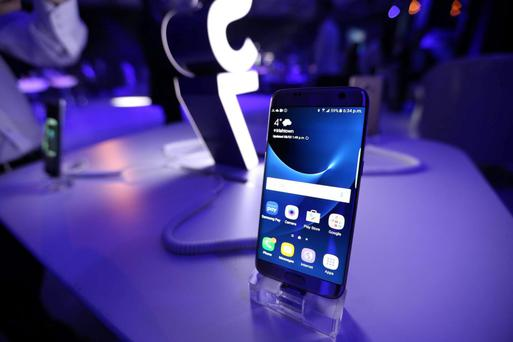 The S7 on display at a launch event in Dublin on Tuesday night.