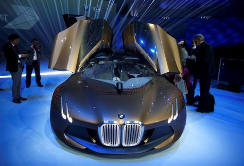 BMW's 'Vision Next 100' concept car at the Olympic Hall in Munich, Germany this year.