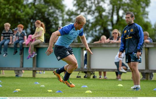 Stephen Smith, during his Leinster days, putting Luke Fitzgerald through his paces.