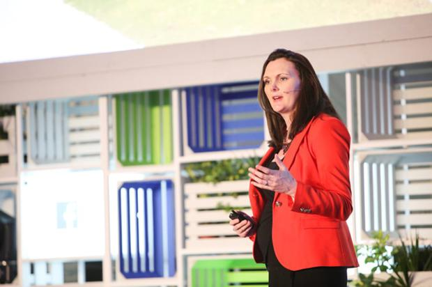 Olivia Leonard, Facebook's director of SMB EMEA speaking at the event in Dublin yesterday