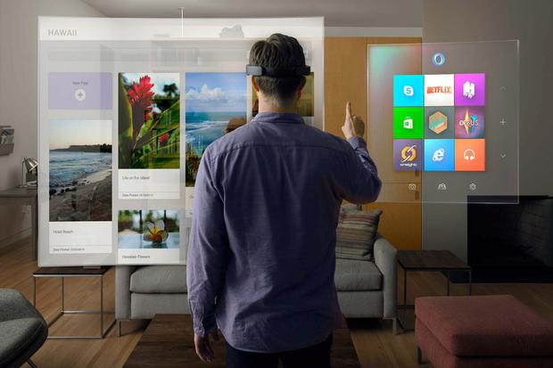 There isn't yet a timeline for a consumer release of the Microsoft HoloLens headset