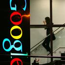 A woman at Google's offices on Barrow Street in Dublin.