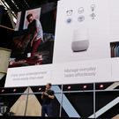 Google vice president Mario Queiroz talks up the Google Home device during the keynote address of the Google I/O conference yesterday in Mountain View, California