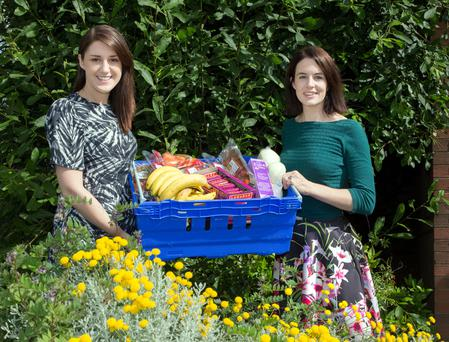 Waste not: FoodCloud founders Iseult Ward and Aoibheann O'Brien outside their warehouse in Tallaght. Photo: Tony Gavin