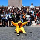 Pokemon Go gamers in Rome