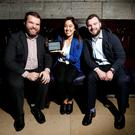 Michael O'Dwyer, founder, SwiftComply, with head of product Lindsey Nguyen and chief operations officer David Gibbons