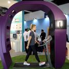 A Fitbit employee on a treadmill at last year's IFA in the German capital
