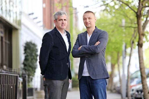 Anthony O'Mara and Marcin Kleczynski of Malwarebytes, which is based in Cork and San Jose. Photo: Diane Cusack