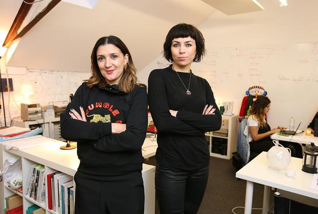 Leading the way: Tanya Grimson and Agata Stoinska of start-up Maven 46 at their Dublin offices. photo: Frank McGrath