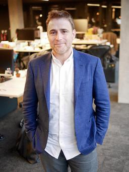 Stewart Butterfield has hailed Slack's new Dublin office as the high-growth San Franciso-based tech giant targets European growth. Picture: Adrian Weckler