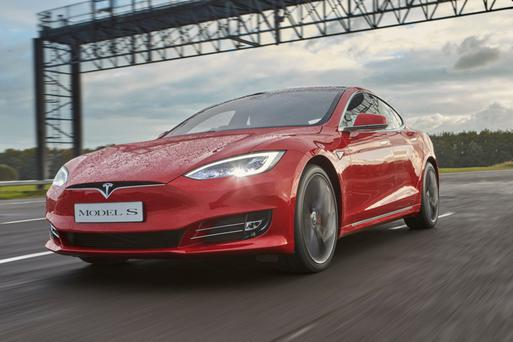 LONG-DISTANCE RUNNER: The fast-paced Tesla Model S