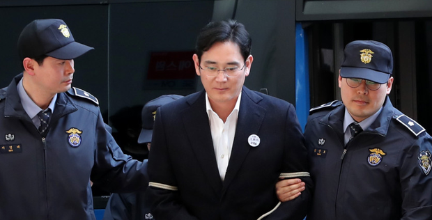 In a black period for Samsung vice-chairman Jay Y Lee was embroiled in a corruption scandal. Photo: Bloomberg
