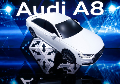 The latest Audi A8 features technology that allows it a degree of autonomy. Photo: Bloomberg