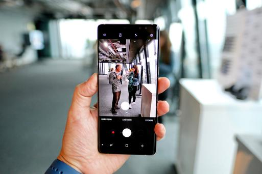 Samsung's new Note 8 has a massive 6.3inch screen. Photo: Adrian Weckler