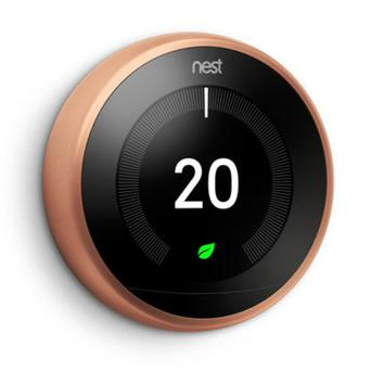 The Nest Learning Thermostat learns what temperature you like, turns itself down when you're out and connects to your phone. So it can keep you comfortable and help save energy.